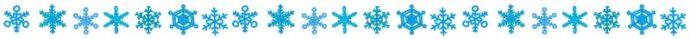 雪の結晶1 ライン
