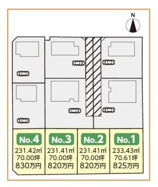 五番丁川原土地売り区画図